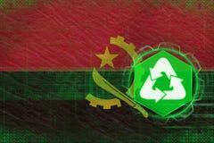 Angola przetwarzać koncepcja ekologii obrazów więcej mojego portfolio Fotografia Stock