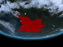 Angola przy nocą ilustracji