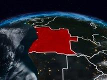 Angola przy nocą Ilustracja Wektor