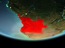 Angola przy nocą na ziemi Obrazy Stock
