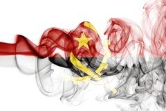 Angola rökflagga Arkivfoto