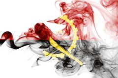 Angola rökflagga Royaltyfri Foto