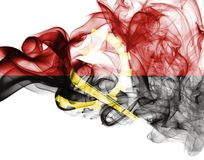 Angola rökflagga Royaltyfria Bilder