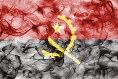 Angola rökflagga som isoleras på en vit bakgrund Arkivfoton