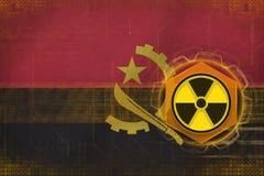Angola radioactive threat. Radiation hazard concept. Royalty Free Stock Photo