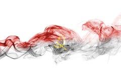 Angola smoke flag Royalty Free Stock Image