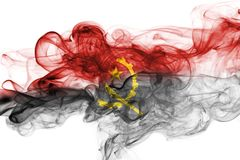 Angola smoke flag Royalty Free Stock Images