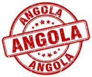 Angola stamp. Angola round grunge stamp isolated on white background. Angola