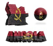 Angola symbole Obraz Stock