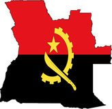 Angola-Vecteur de carte Photographie stock