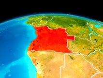 Angola w czerwieni Royalty Ilustracja