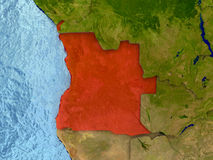 Angola w czerwieni Obrazy Stock