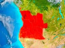Angola w czerwieni na ziemi Obrazy Stock
