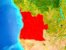 Angola w czerwieni na ziemi Zdjęcie Stock