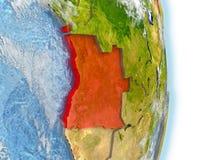 Angola w czerwieni na ziemi Zdjęcie Royalty Free