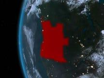 Angola w czerwieni przy nocą Zdjęcia Stock