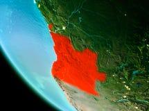 Angola w czerwieni w wieczór Zdjęcia Royalty Free