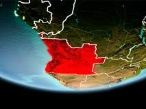 Angola w czerwieni w wieczór Obraz Stock