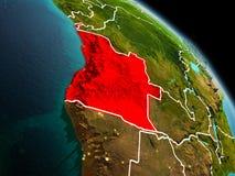Angola w ranku od orbity Obraz Royalty Free