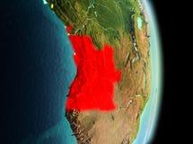Angola w ranku od orbity Fotografia Stock