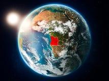 Angola z zmierzchem od przestrzeni Ilustracja Wektor