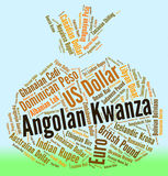 Angolan Kwanza Shows Forex Trading And Coin Stock Photography