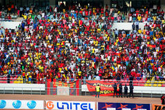 Angolan Soccer Fans Stock Photo