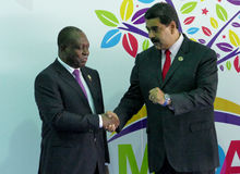Angolan vice president, Manuel Domingos Vicente and Venezuelan President Nicolas Maduro Stock Photography