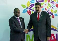 Angolanischer Vizepräsident, Manuel Domingos Vicente und venezolanischer Präsident Nicolas Maduro Stockfotografie