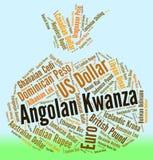 Angolanisches Kwanza zeigt Devisen-Handel und Münze Stockfotografie
