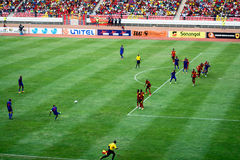Angolano contra Suráfrica Imagen de archivo
