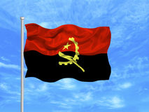 Angoli 1 flagę Zdjęcia Stock