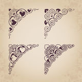 Angoli calligrafici ornamentali nello stile d'annata - vector la progettazione illustrazione vettoriale