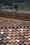 Angoli dei tetti di mattonelle Immagini Stock