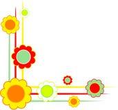 Angoli floreali illustrazione di stock