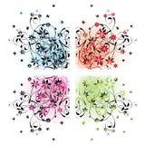 Angoli floreali Fotografie Stock Libere da Diritti
