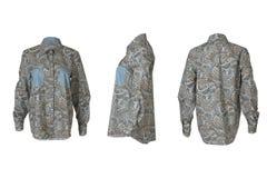 Angoli grigi femminili della camicia tre Immagine Stock Libera da Diritti