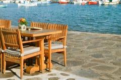 Angolo accogliente dal mare La Grecia Fotografia Stock Libera da Diritti