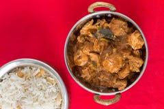 Angolo alto del curry di Malabar del pollo Fotografia Stock Libera da Diritti