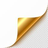 Angolo arricciato oro Fotografia Stock Libera da Diritti