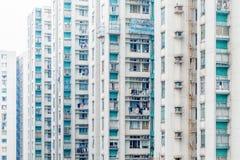 Angolo astratto dell'alloggio di Hong Kong, Asia Fotografia Stock