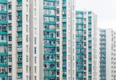 Angolo astratto dell'alloggio di Hong Kong, Asia Fotografia Stock Libera da Diritti