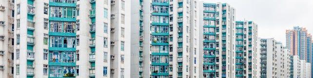 Angolo astratto dell'alloggio di Hong Kong nel panorama Immagine Stock Libera da Diritti