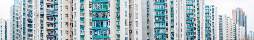 Angolo astratto dell'alloggio nel panorama, Asia di Hong Kong Immagine Stock