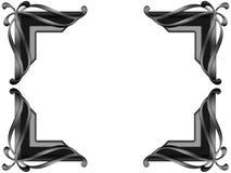 Angolo d'argento della foto di rivestimento Fotografie Stock Libere da Diritti