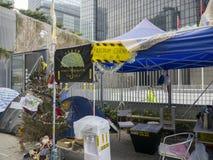 Angolo davanti agli uffici di amministrazione centrale - rivoluzione dell'ombrello, Ministero della marina, Hong Kong di libertà Fotografie Stock