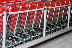 Angolo dei carrelli di acquisto Fotografia Stock Libera da Diritti