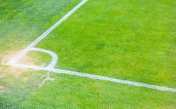 Angolo del campo di calcio fotografie stock libere da diritti