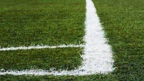 Angolo del campo di calcio Fotografie Stock