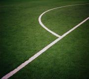 Angolo del campo di football americano Fotografia Stock
